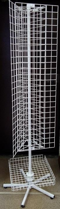 Стойка поворотная с решеткой трехгранная